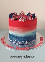 Red & Blue Ombre Cake
